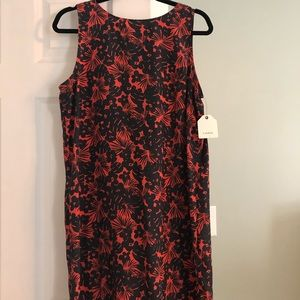 Caslon Navy blue and coral floral dress